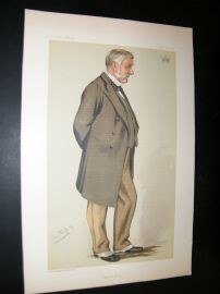 Vanity Fair Print 1883 Earl of Stair, Spy Cartoon